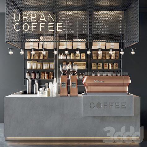 3D Model Interior Coffee Shop 53 Scenes File 3dsmax