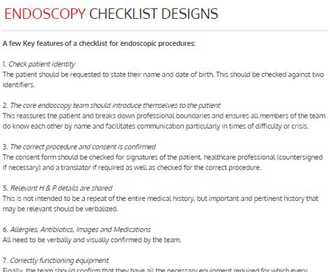 Cath Lab Checklist Designs *Click thumbnail to view or print - medical consent forms