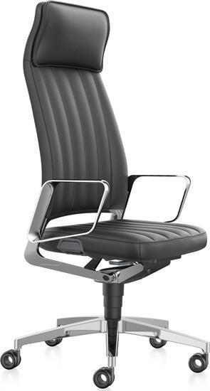 Chefsessel Aus Leder Mit Hoher Ruckenlehne Burostuhl Ergonomisch Sessel Stuhle
