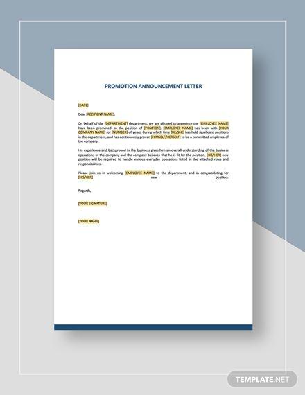 Promotion Announcement Letter Template Ad Affiliate Announcement Promotion Template Letter Letter Templates Free Templates Letter Templates