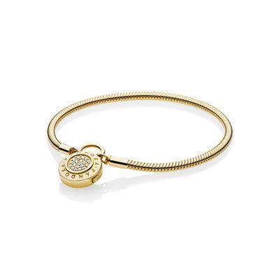Moments PANDORA Shine Logo Padlock Clasp Bracelet | Pandora ...