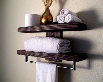 Bathroom Shelves Floating Shelves Towel Rack Bathroom Shelf Wall