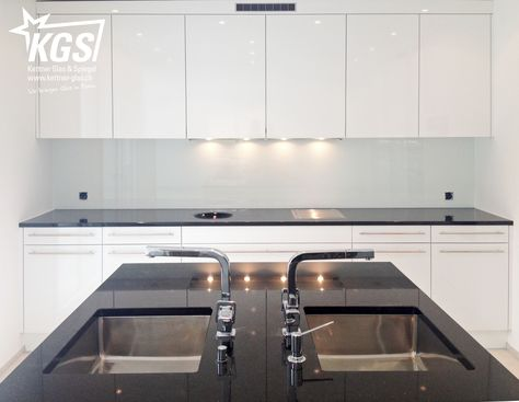 3,5m Glas-Küchenrückwand in Weiss - KGS Küche Pinterest - spritzschutz küche plexiglas