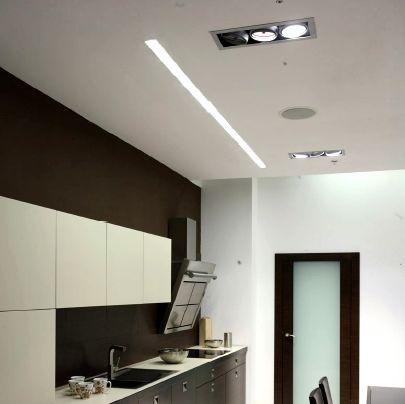 Perfil Led Lineal Trimless Iluminacion Interior Luces De Techo Iluminacion