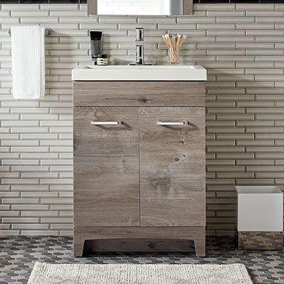 24 Inch Stancliff White Washed Oak Oak Bathroom Vanity Bathroom Vanity 24 Inch Bathroom Vanity