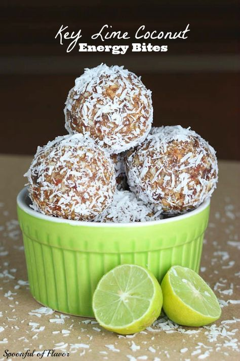 Key Lime Coconut Energy Bites - paleo and vegan friendly!