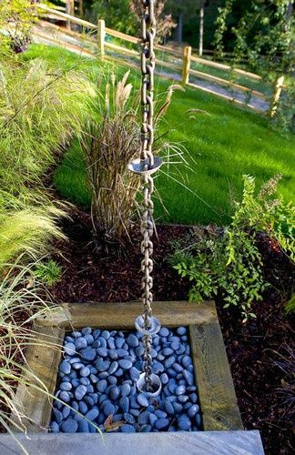 Rainchain Ideas For Downspouts And Fountains Containerwatergardens Rain Chain Rain Chain Diy Container Water Gardens
