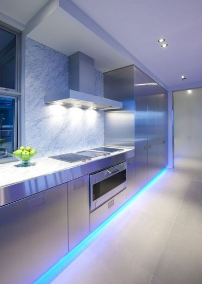 12 Volt Led Strip Light Kit 32 Foot With Images Modern Kitchen Lighting Kitchen Lighting Design Modern Kitchen Interiors