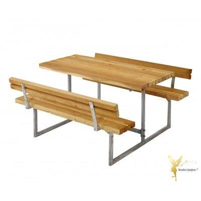 Woodinis Kinder Sitzgarnitur Junior Larche Mit Ruckenlehnen Sitzgarnitur Gartenmobel Sets Gartenmobel