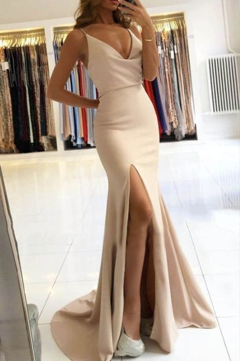 Mermaid Long Prom Dresses Formal Evening Gowns #promdress #longpromdress #eveningdresseselegant