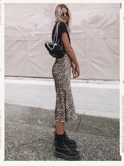 Social Threads - Promesa Leopard Midi Skirt