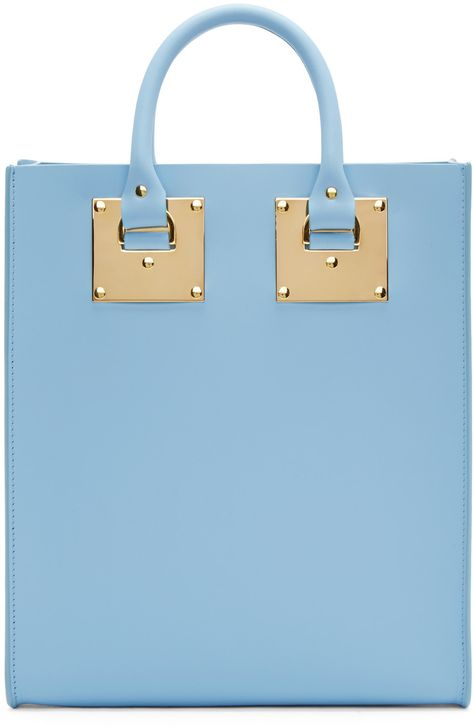 Sophie Hulme Mini Albion Tote in Blue (SSENSE Exclusive)