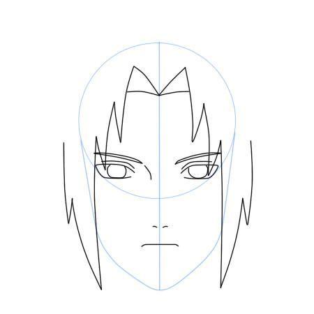 Como Dibujar A Sasuke Uchiha Shippuden Paso A Paso Dibujanime