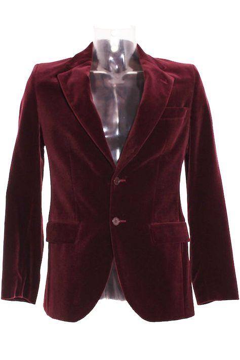 Americana Hombre – Zara de Terciopelo en Color Burdeos de Segunda Mano El  Armario de Alvaro b1cc473616db