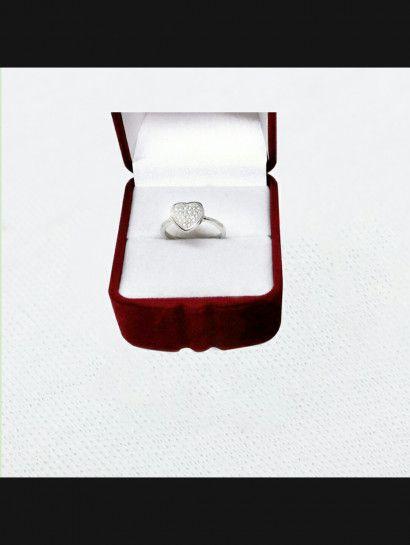 خاتم فضة عيار 925 خاتم قلب فضة البيع بالقطعة