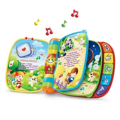 Vtech Musical Rhymes Book In 2021 Baby Toddler Toys Rhyming Books Baby Play Toys
