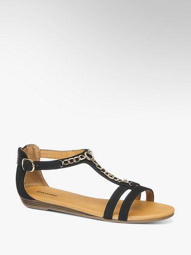 a3e7618acbc Czarne sandały damskie Graceland - 1210951 - deichmann.com | Fashion ...