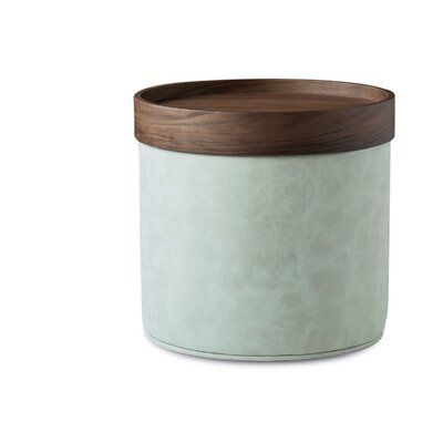 Sohoconcept Celine Leather Pouf Fabric Dark Gray Leg Color Brown In 2020 Leather Pouf Brown Grey Leather
