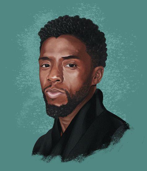 Portrait of Chadwick Boseman, Tauhid Bondia