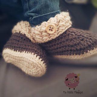 Handmade Crochet Bébé Chaussons Laine