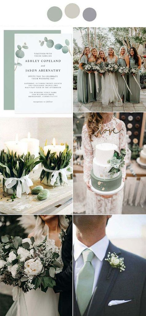 Fall Wedding Colors, Wedding Color Schemes, Emerald Wedding Colors, Vintage Wedding Colors, Wedding Colora, November Wedding Colors, Vintage Weddings, Color Themes For Wedding, Neutral Color Wedding