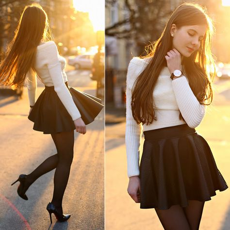 Girly outfits, skirt outfits, casual outfits, cute outfits, fashion out