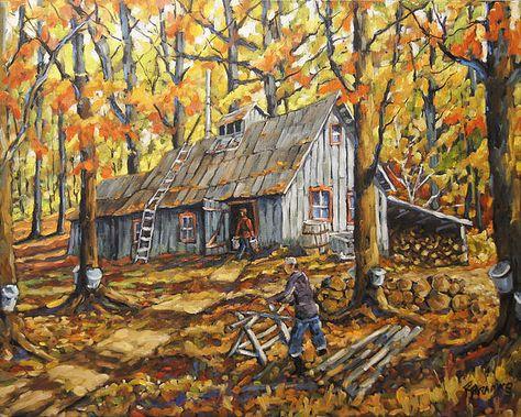 16 idées de Cabane à sucre   cabane a sucre, cabane, peinture