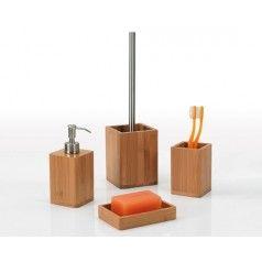 set-accessori-bagno-in-bamb-h107127 | Set accessori bagno ...