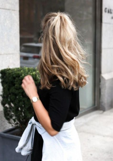 Hair - hair information about hair pin you can . - Hair – hair information about hair pin you can … - Wavy Hair, Her Hair, Hair Inspo, Hair Inspiration, Wedding Inspiration, Messy Ponytail, Pretty Hairstyles, Hairstyle Ideas, Bangs Hairstyle