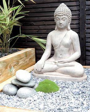 Statue Bouddha Dans Un Jardin Japonais Width Bouddha Dans