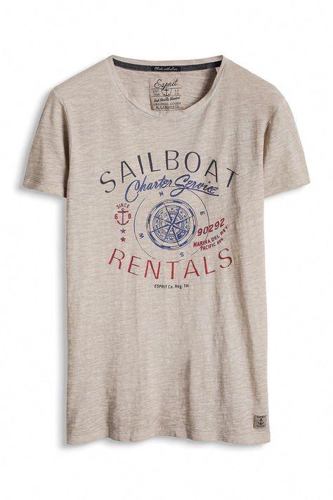 Esprit Vintage Jersey T Shirt, 100% Baumwolle im Online
