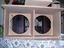 Loudspeaker enclosure - Medium density fiberboard is a common material out of which loudspeaker enclosures are built.