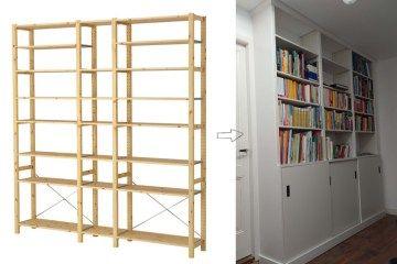 Greek Key Golden Vittsjo Built In Bookcase Ikea Ivar Shelves Bookcase