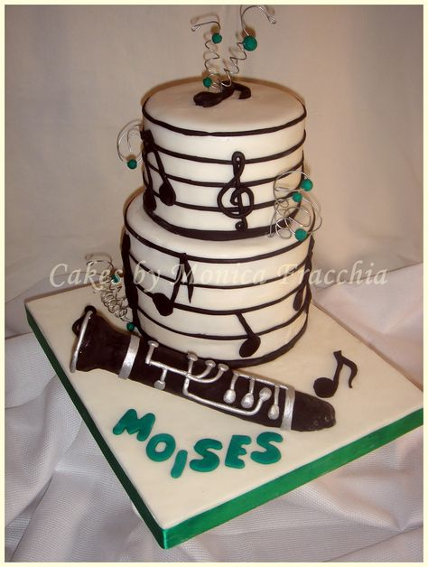 TORTA DECORADA MUSICAL CON CLARINETE | TORTAS CAKES BY MONICA FRACCHIA