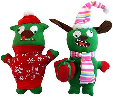 Dei Christmas Plush Ugly Dog Toy Set 11h Sweatergift Click