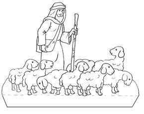 Dibujo Para Colorear Un Pastor Con Ovejas En El Rebano Imagui The Good Shepherd Jesus Coloring Pages Bible Coloring Pages