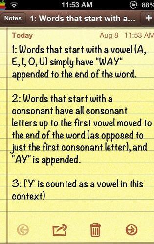 pig latin writing alphabet