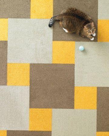 Martha Stewart Carpet Tile Flor Velvet Twist In Sunflower Acorn And Bisque Karpet Lantai