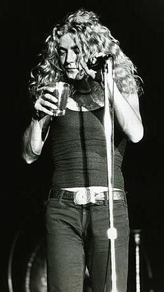 Robert Plant sings with Led Zeppelin at the Forum in Inglewood on Aug. 21, 1971. Photo © Greg Papazian.