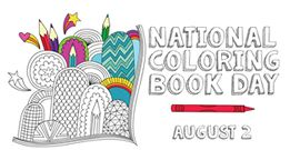 National Coloring Book Day Color Pinterest Coloring Books