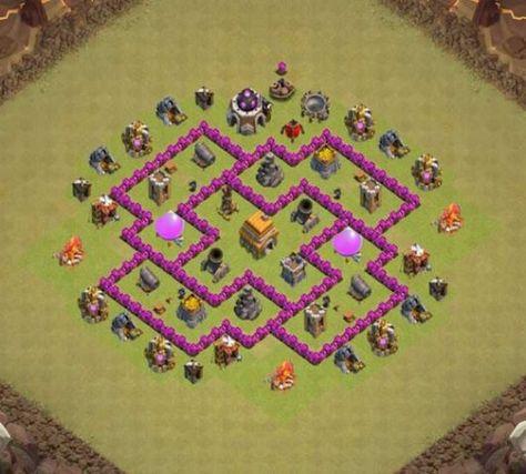 Kumpulan Base Coc Th 6 Terkuat 11