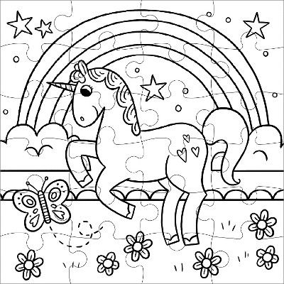 24pc Magical Unicorn Jigsaw Puzzles Einhorn Puzzle Einhorn Party Einhorn