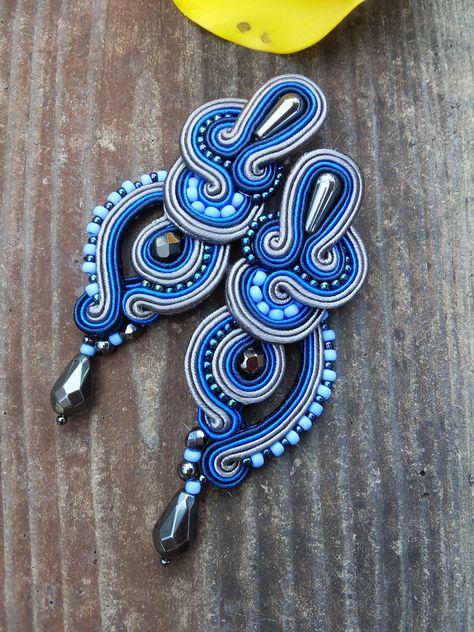 Soutache earrings by MaNiko More https://www.facebook.com/maniko2013