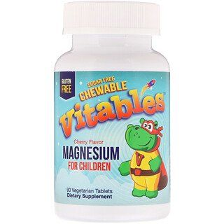Vitables Magnesium Chewables For Children Sugar Free Cherry 90 Vegetarian Tablets In 2020 Sugar Free Healthy Kids Cherry Flavor