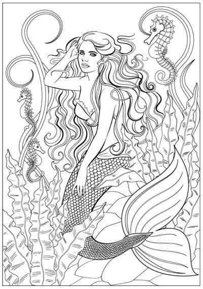 Best Mermaid Coloring Pages Coloring Books Mermaid Coloring