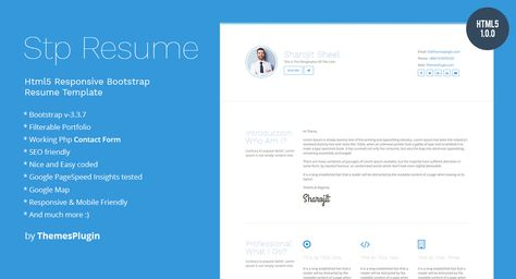 Our first item a Responsive Html5 Resume template just arrived - bootstrap resume template