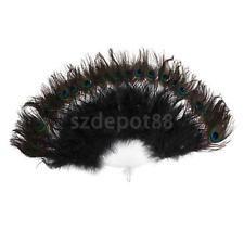 Peacock Feather Foldable Hand Fan Belly Dance Handheld Party Fan Fancy Dress
