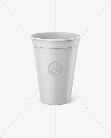 Paper Stadium Cup Mockup Cup Mockup High Angle Shot Mockup Free Psd