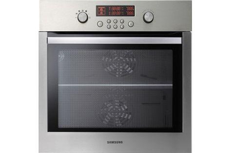Samsung NV70F2793NS, Four multifonction 70L à double chaleur tournante, Nettoyage par pyrolyse - Nettoyage vapeur, Classe A-10%, Porte froide - Rails télescopiques - Séparateur de cavité