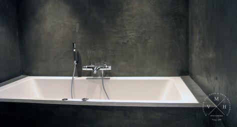 Betonlook Badkamer Muur : Betonlook badkamer uw wanden en muur van betonlook m v h
